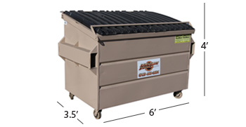 Temporary 3 Yard Bins - Dependable Disposal & Recycling