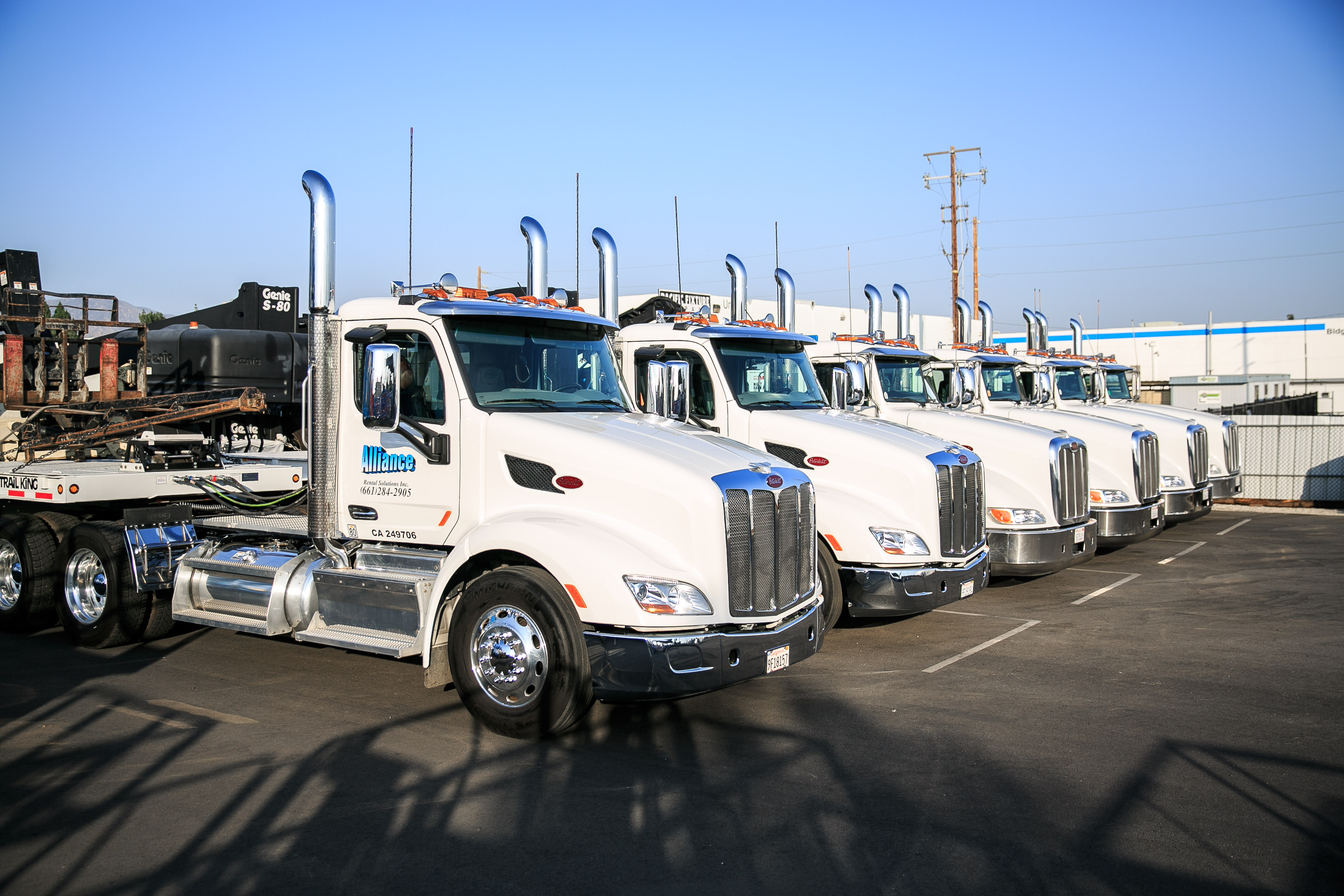 Our Delivery Trucks - Alliance Rental Solutions Inc.