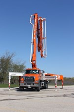 Our 38m MS Truck on Display at Walk MS Kenosha.  - Meyer Concrete Pumping & Conveyor Service, LLC