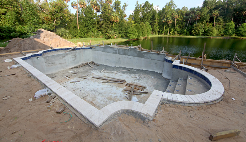 Davenport post pools lakeland florida proview for Swimming pool construction company