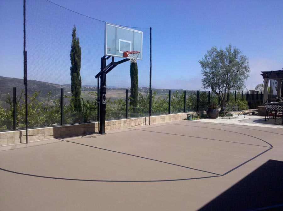 Ferandell tennis courts inc residential basketball for Residential basketball court cost