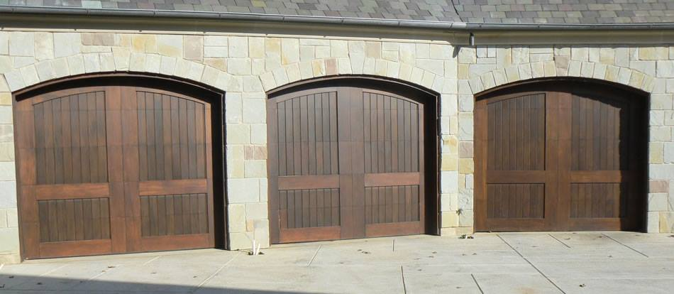 Garage Door And Gates 4 Less Residential Dark Wooden Garage Doors