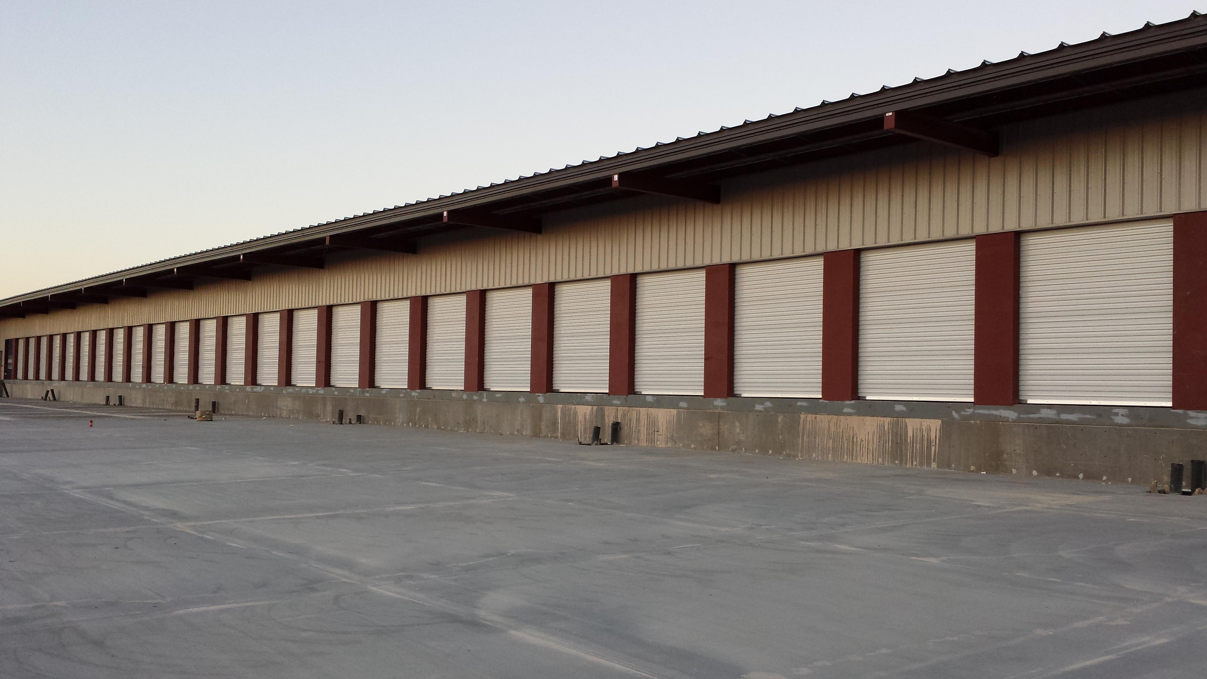 Rolling steel door on building -  Rolling Steel Texas Overhead Door