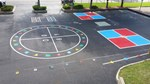 Greenwood Lake Elementary School Playground Markings Photo 1 - A Plus Striping, Inc.
