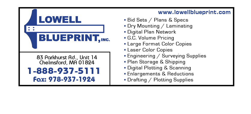 Lowell blueprint inc chelmsford massachusetts proview malvernweather Choice Image