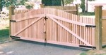 Wood Driveway Gates - Orange Fence & Supply Co., Inc.