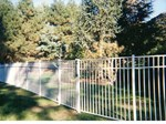White Rail Fence with gate latch - Orange Fence & Supply Co., Inc.