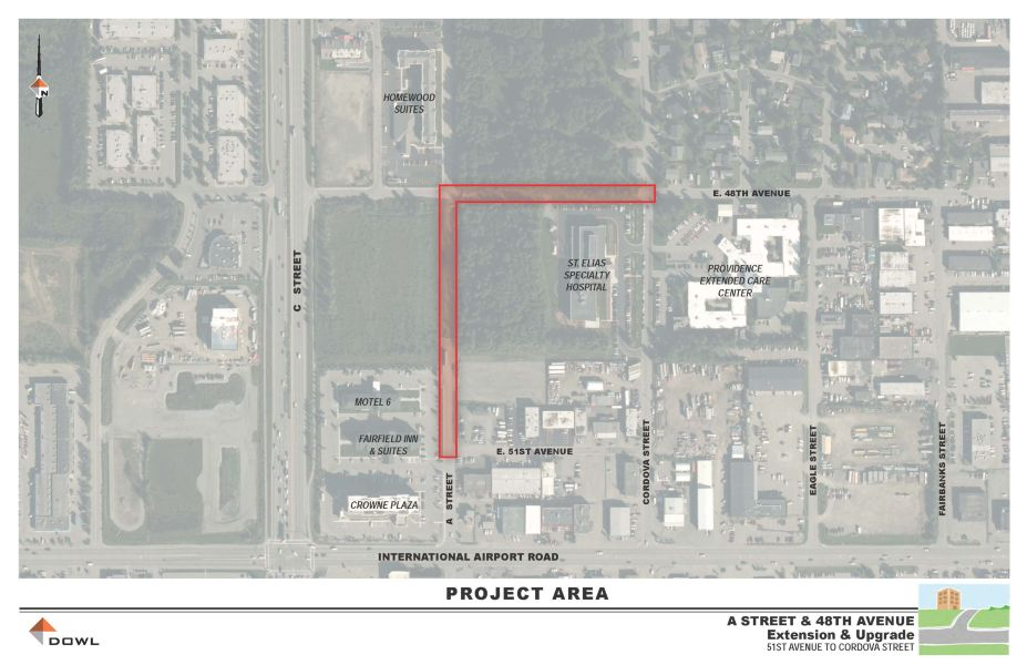 48th Ave. and A St. Extension and Upgrade Project - DOWL