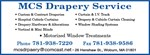 List of Services - MCS Drapery Service