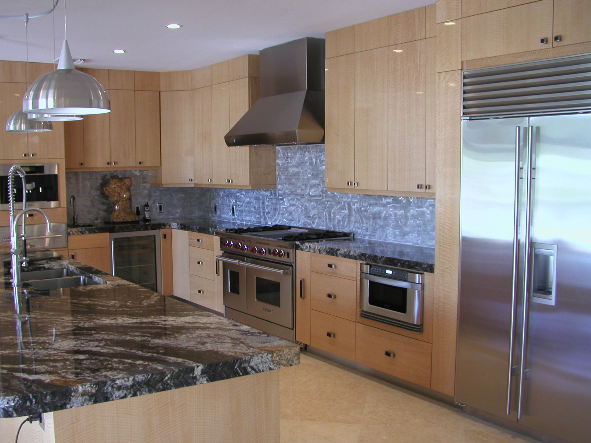 ... Anigre Contemporary Kitchen   Real Hardwood Floors U0026 Custom Cabinets ...
