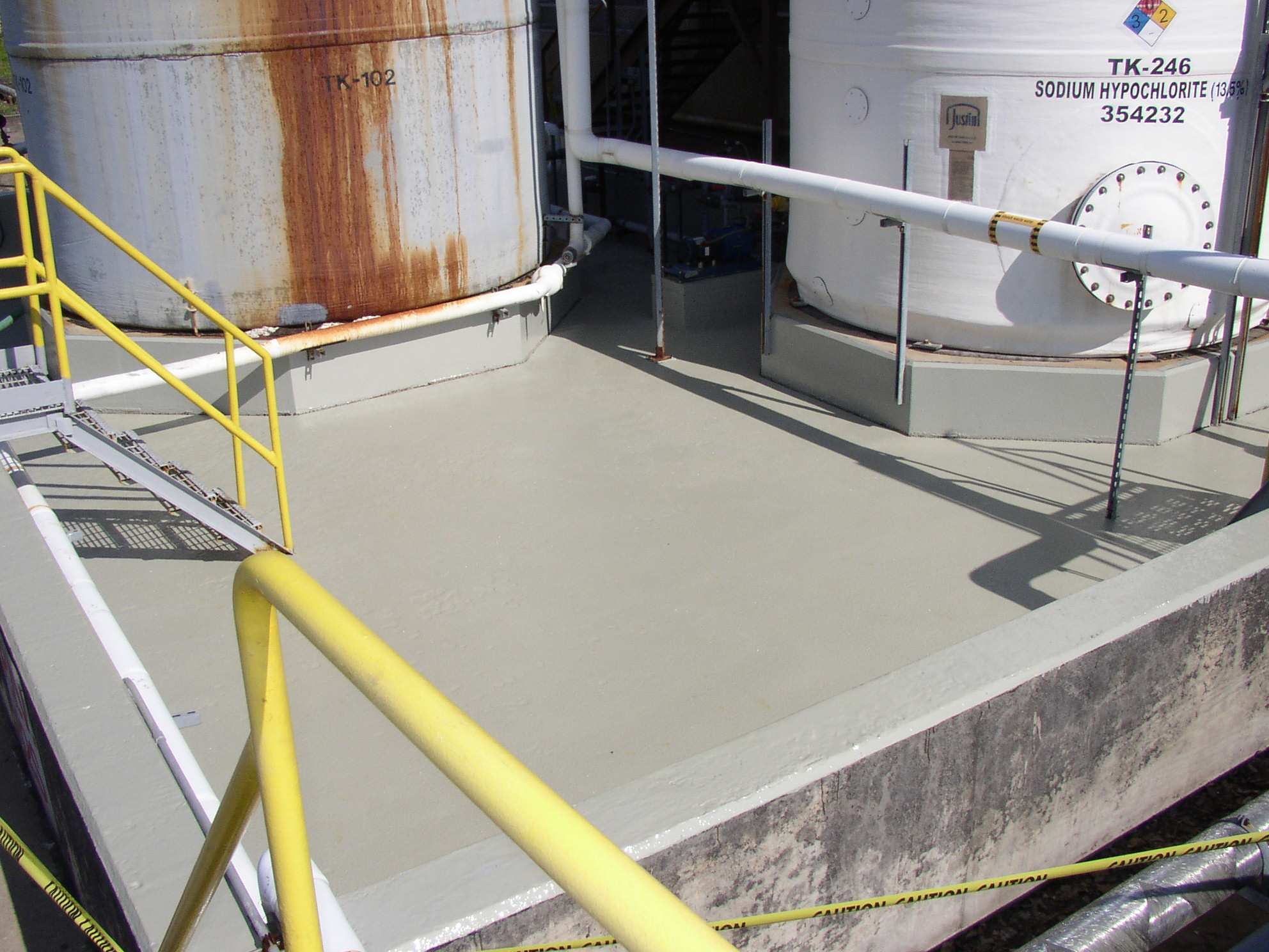 Concrete Containment Systems : Concrete floor solutions inc video image gallery