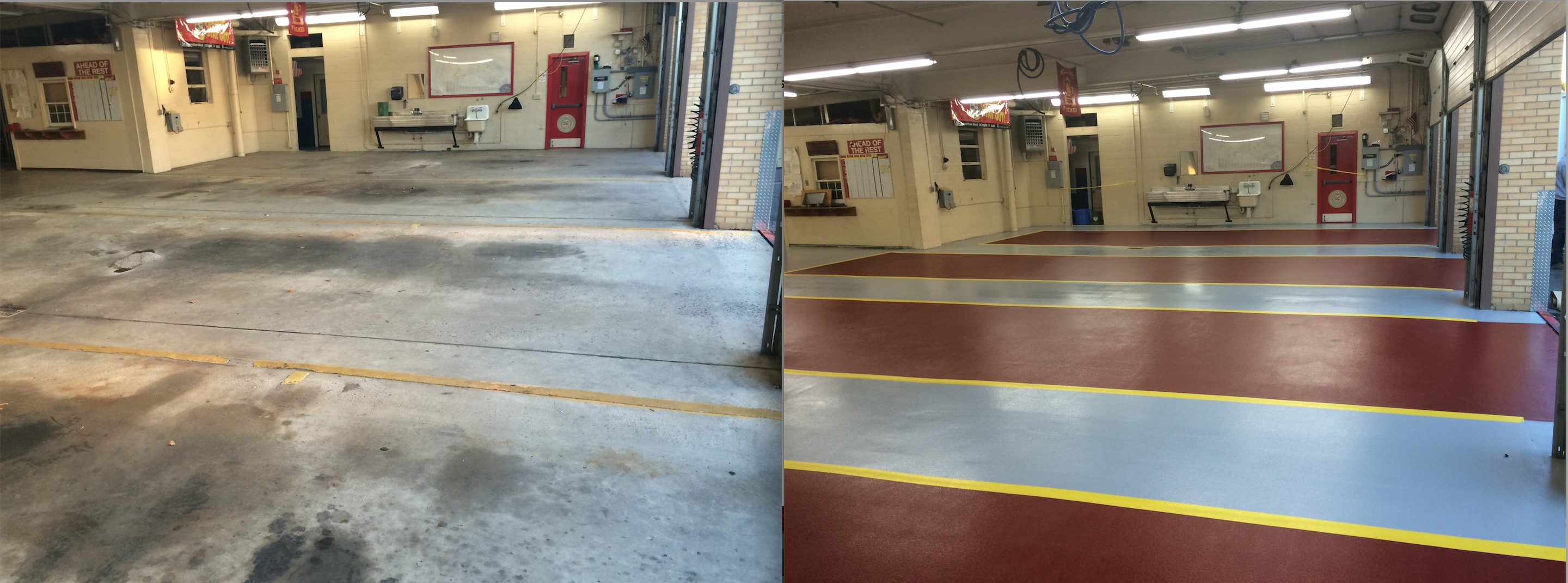 Epoxy Before And After : Concrete floor solutions inc allentown pennsylvania