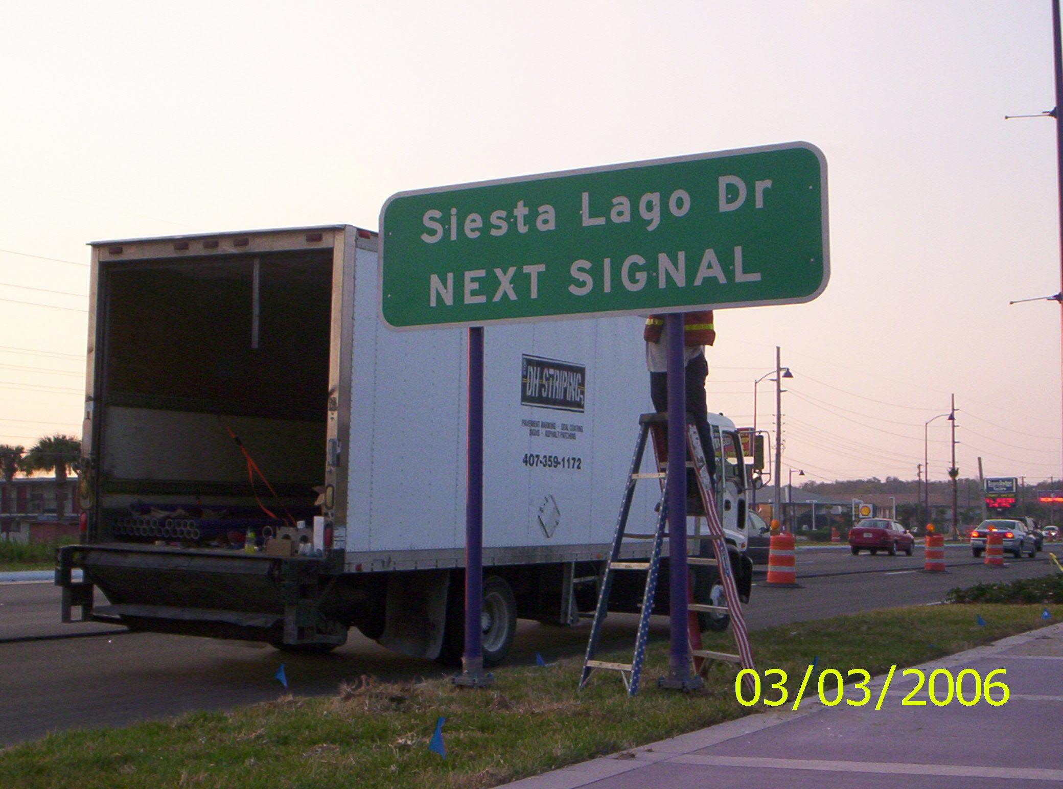 DOT Directional sign Installation