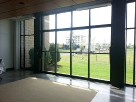Aluminum Bi Fold Doors At Training Center   Richmond, VA