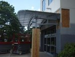 Holiday Inn Galvanized Canopy - Rens Welding & Fabricating, Inc.