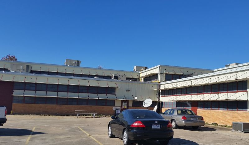 Camp Mabry Building 58 - 5,500 sq ft Black-out Film, Exterior Application Photo 1