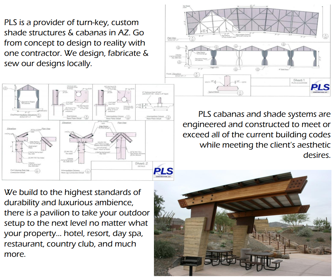 Cabana and Shade Structures - PLS Construction, LLC