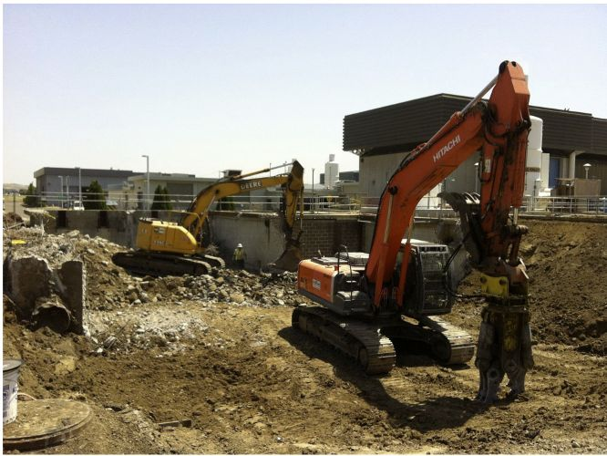 Contra Costa Waste Water Treatment Primary Structure Demolition Photo 1 - CVE Demolition, Inc.