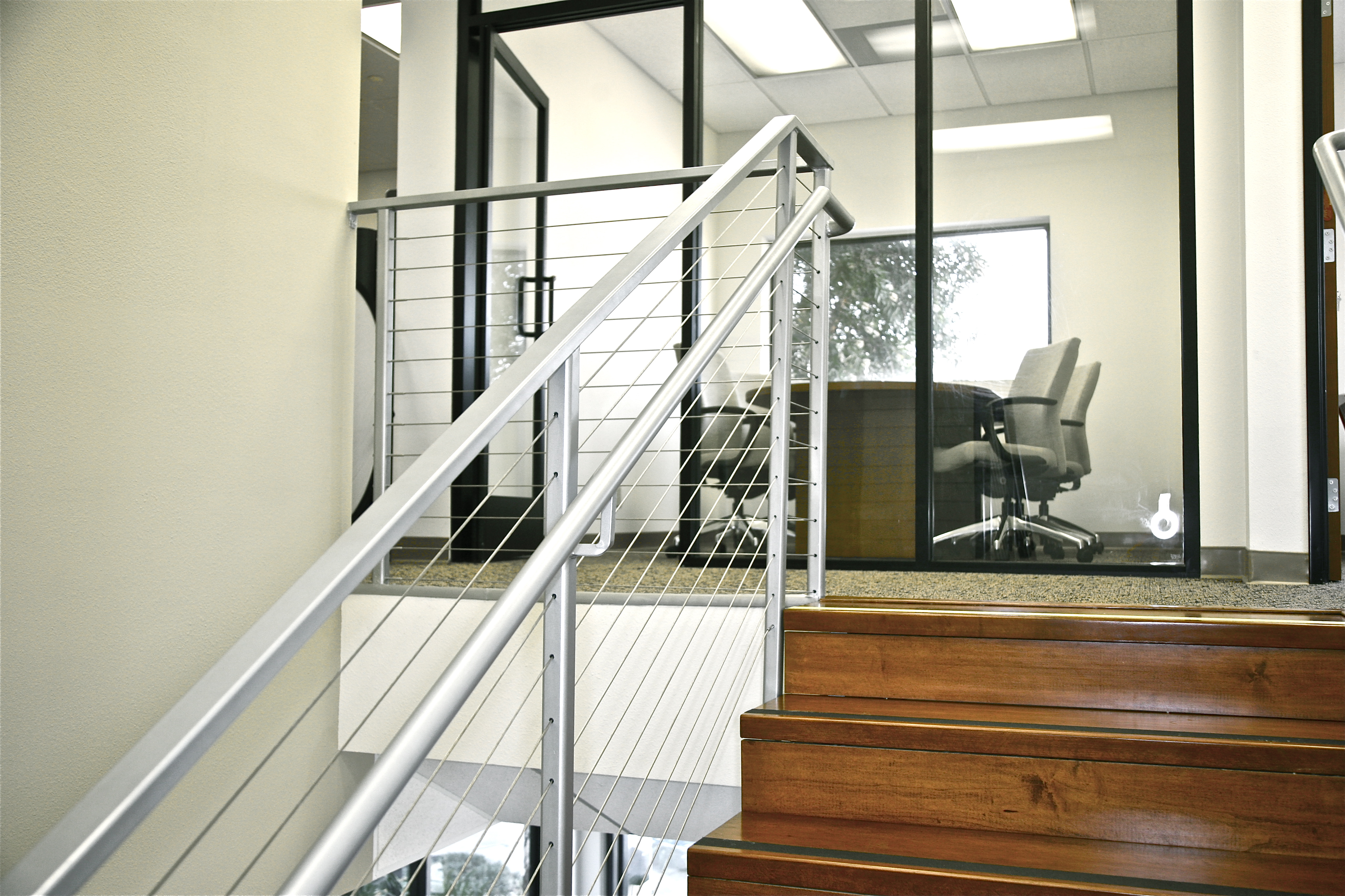 Custom Staircase to Code & New Offices - Fasone Construction