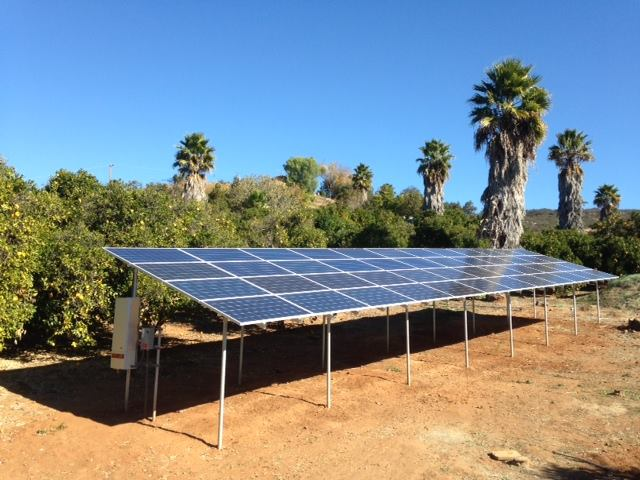 Agricultural PV system, elevated ground mount - Skelly Electric Co.