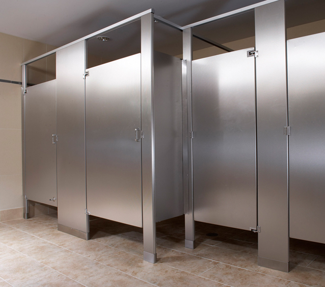 Stumbaugh associates inc burbank california proview for Stainless steel bathroom partitions