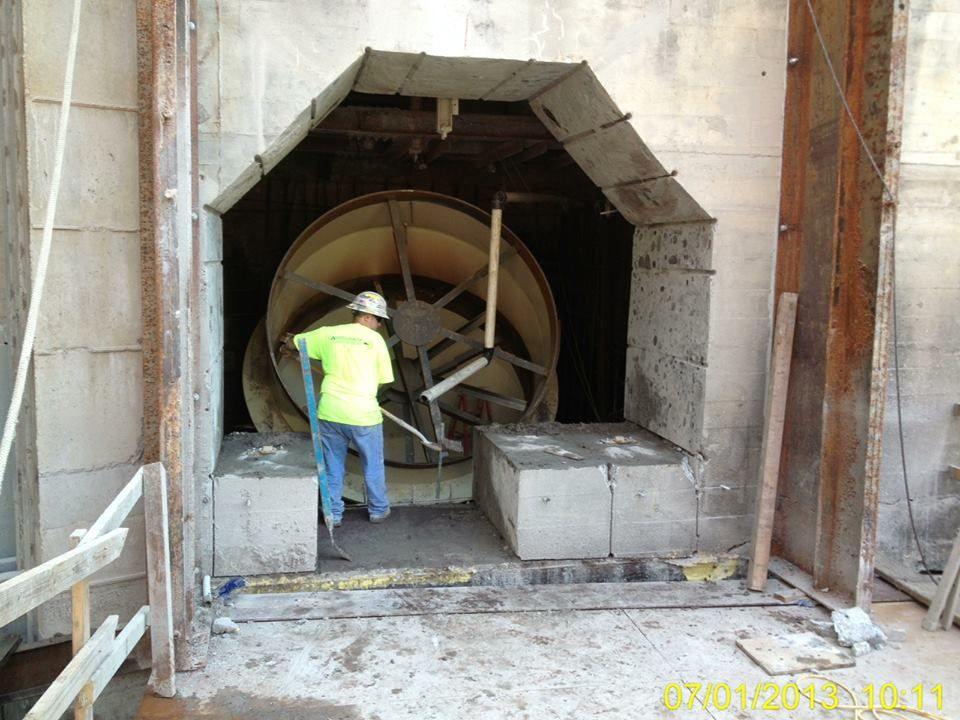 Accurate Concrete Cutting, Inc  - Wire sawing for a 108