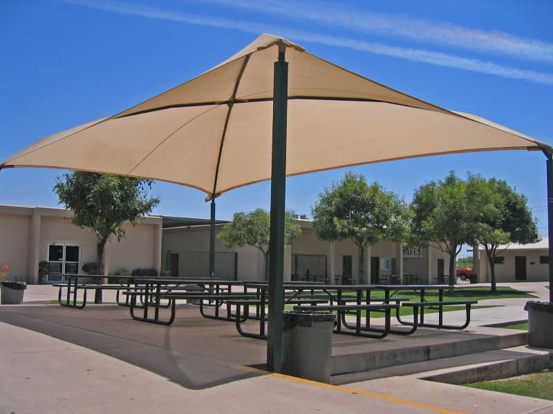 Sun city awning patio shade sails shade structures for Sun shade structure