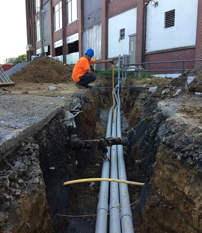 on electrical wiring underground