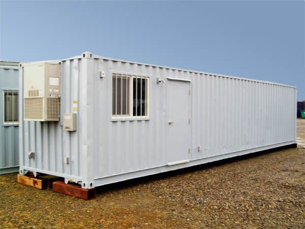 40ft. Ground Level Office / Storage Combo