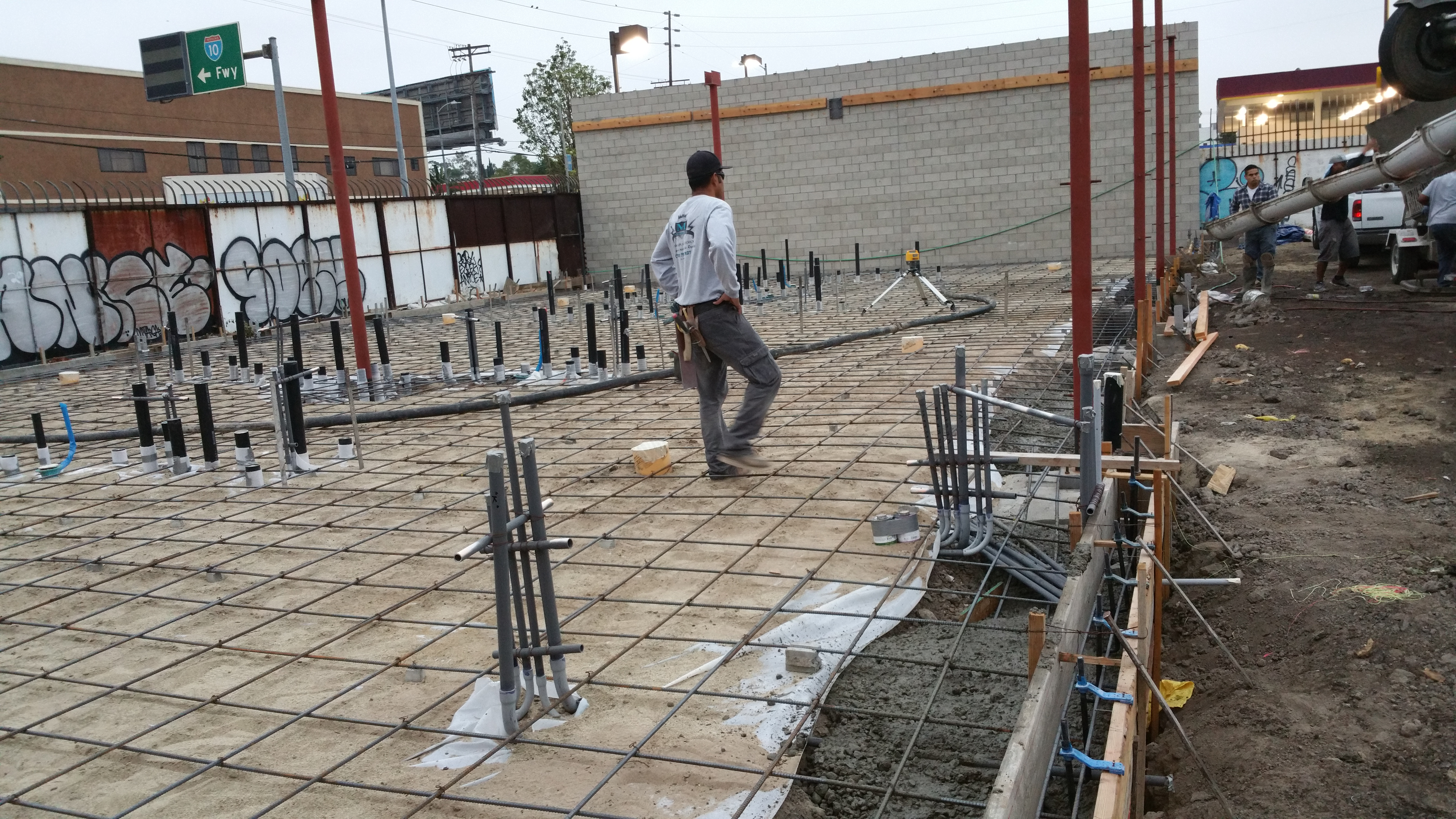 Coin Laundry Foundation and Slab on Grade - Fehoko Concrete Inc.