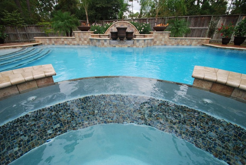 St croix custom pools llc tomball texas fountains for Swimming pool waterfalls construction
