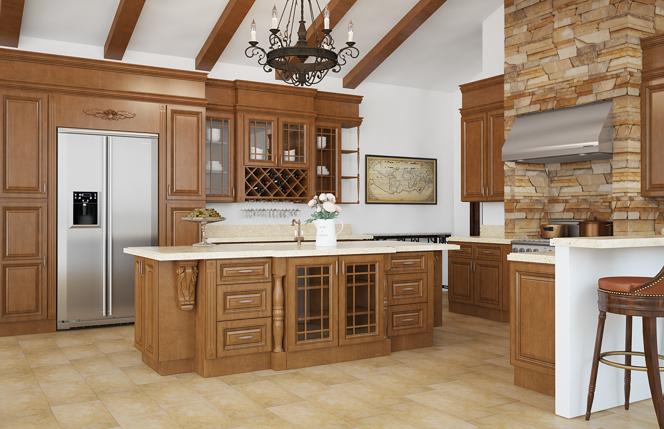 Auburn Maple Kitchen Cabinets Builders Surplus Wholesale Kitchen