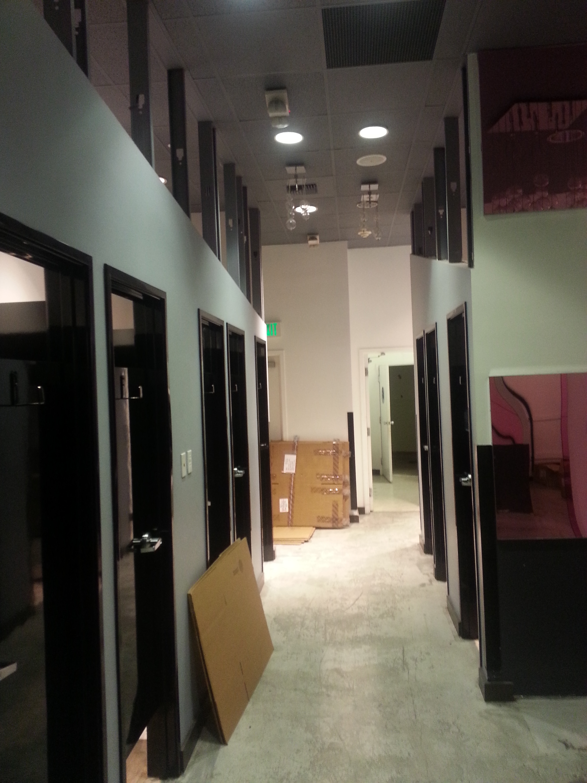 Timely Frames and wood doors for dressing rooms - Beauregard and Associates