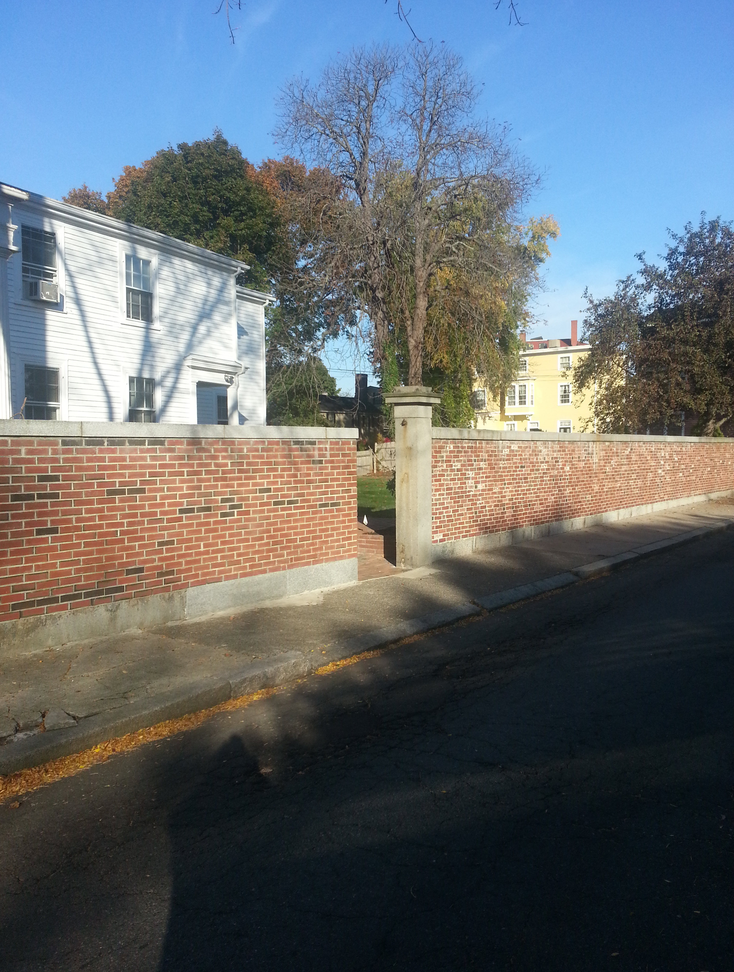 Red Brick Privacy Wall Reconstruction and Addition - Salem, MA