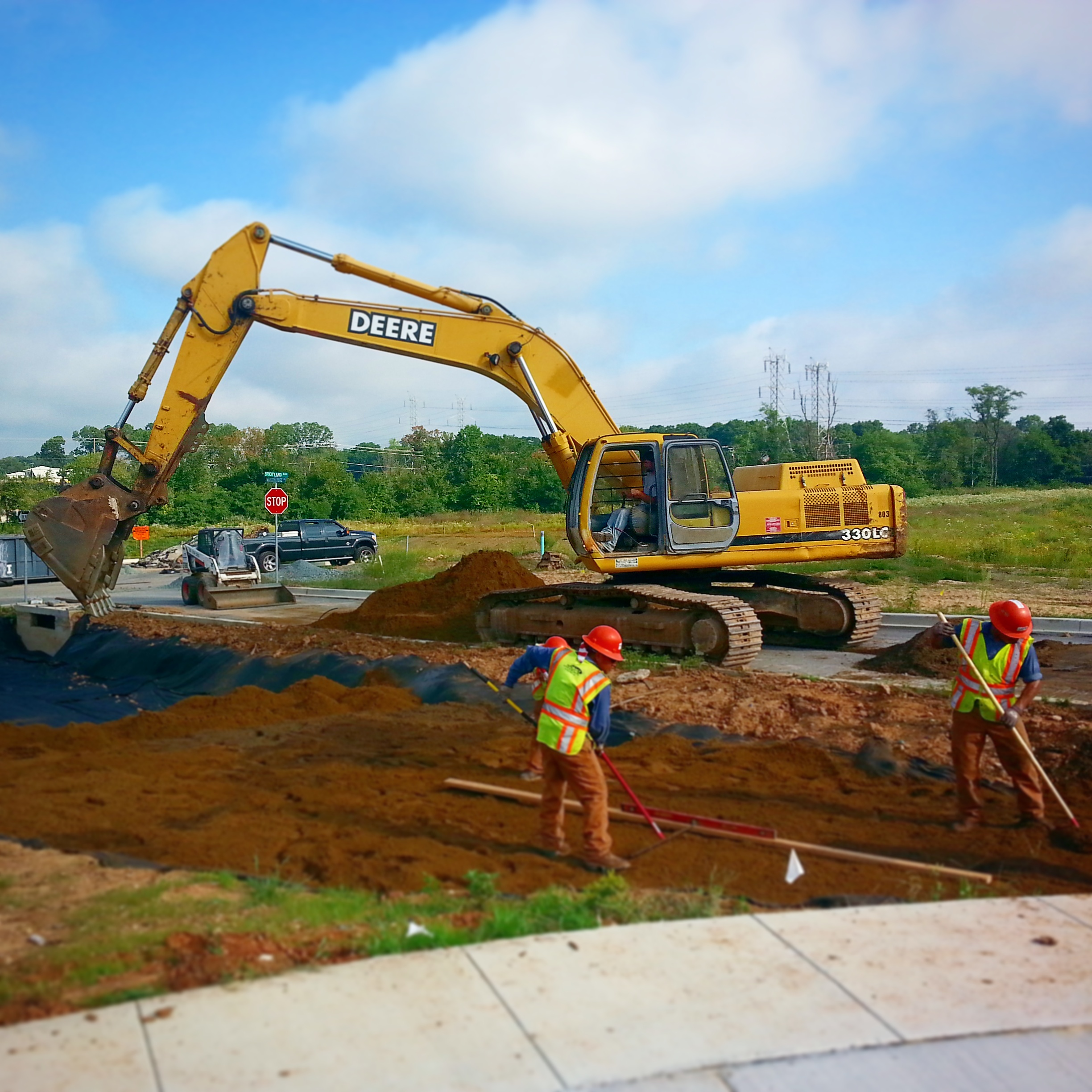Bioretention Construction - Patriot Land & Wildlife Management