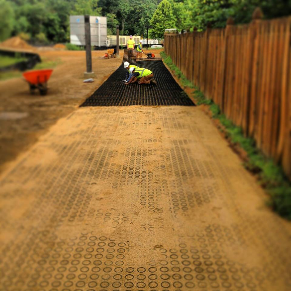 Porous Grass & Gravel Pave Installation - Patriot Land & Wildlife Management