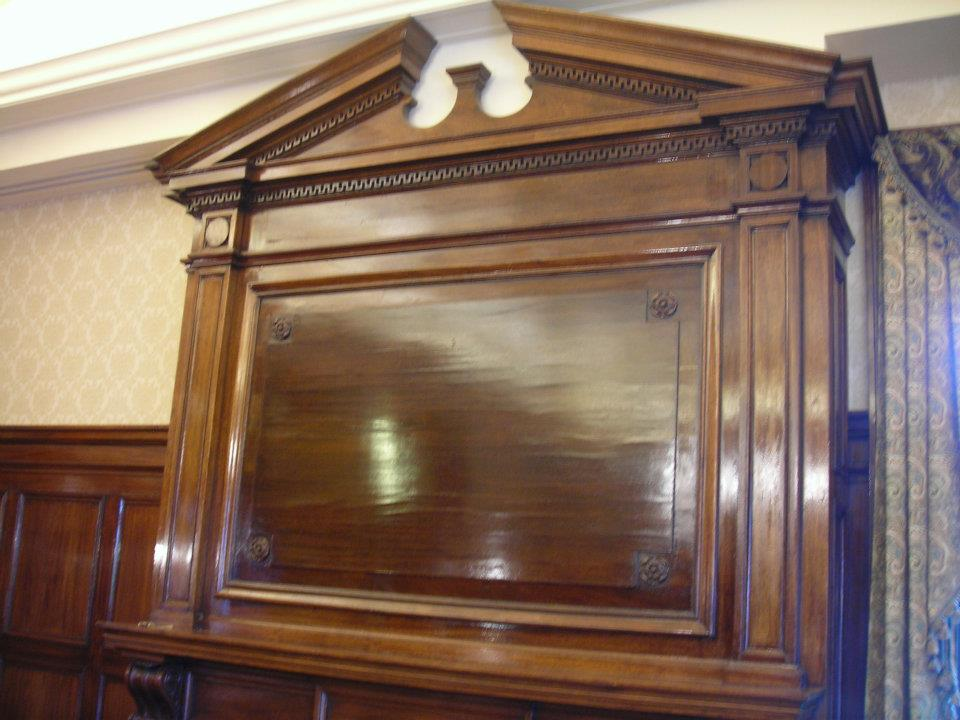 Re-Stain of Fireplace Mantle - Hershey Trust Boardroom