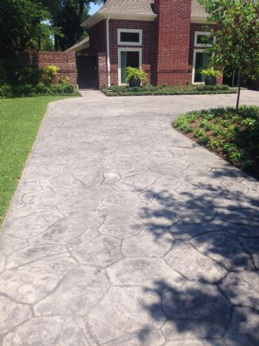 Stamped Concrete Driveway By Mcguirt Custom Homes In
