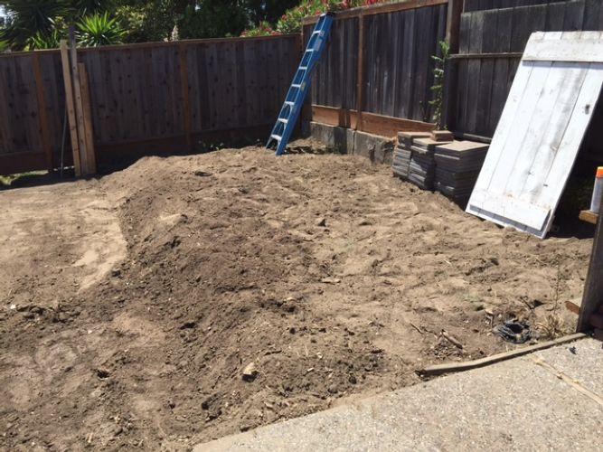 Redwood Engineering Construction Backyard Grading  Clear U0026 Grub  San Bruno