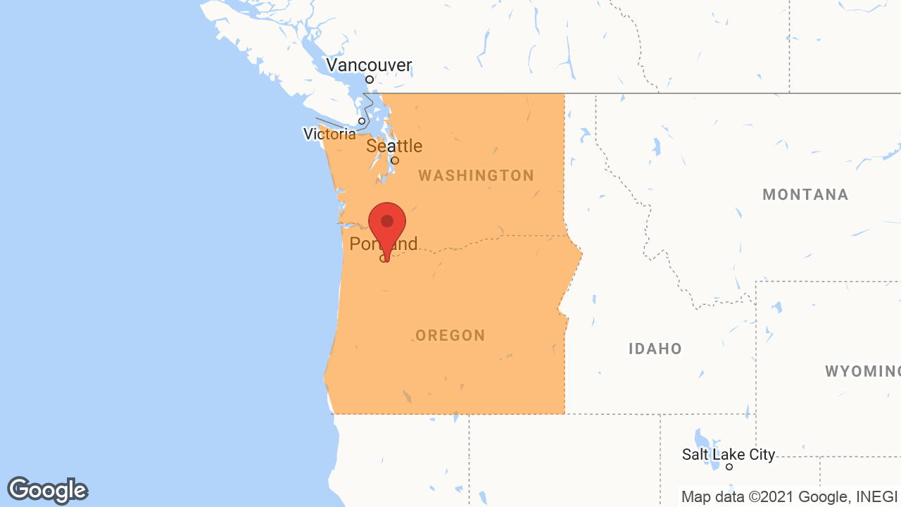 Service Area and Locations Map for Oregon City Garage Door LLC