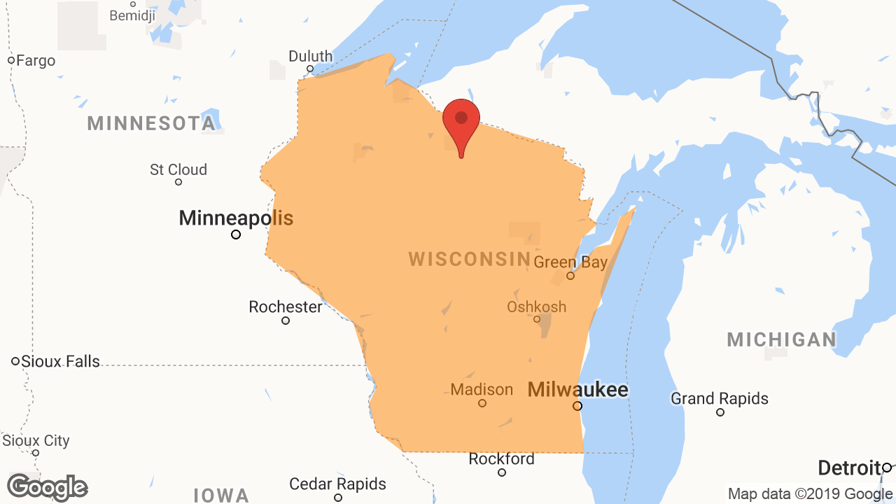 Service Area and Locations Map for North Wisconsin Homes