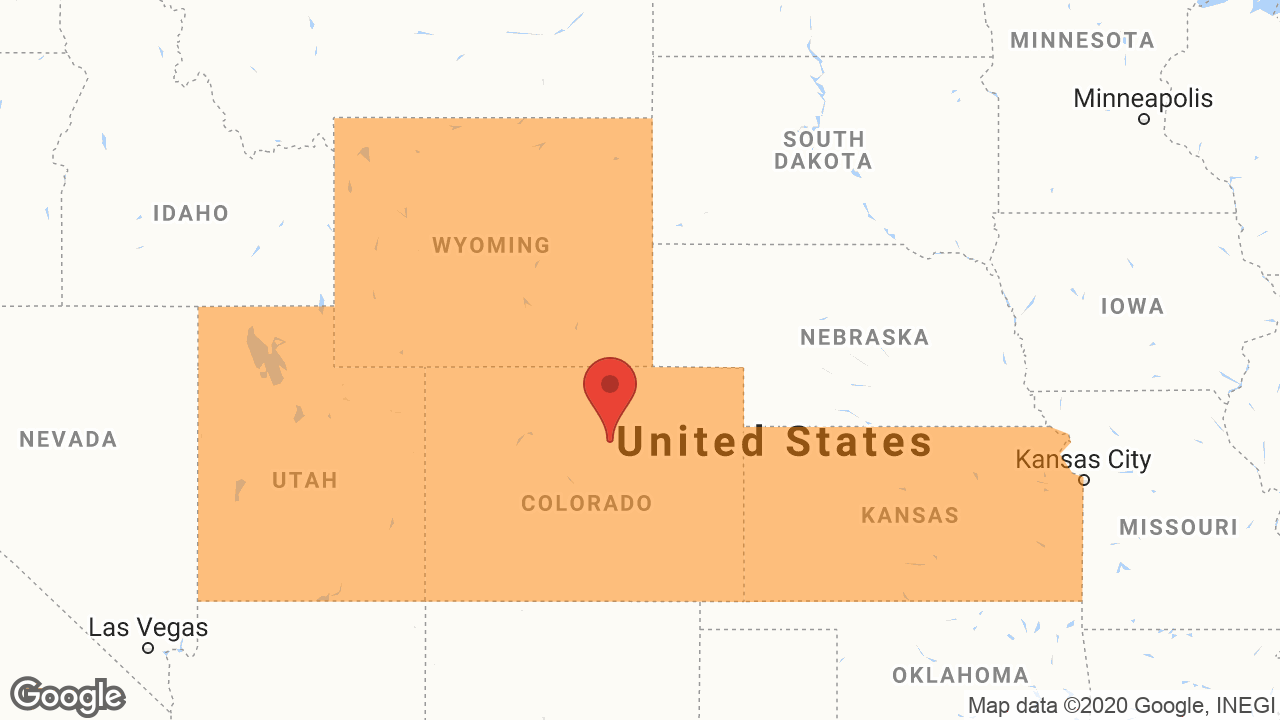 Service Area and Locations Map for Colorado Welding Inspection LLC
