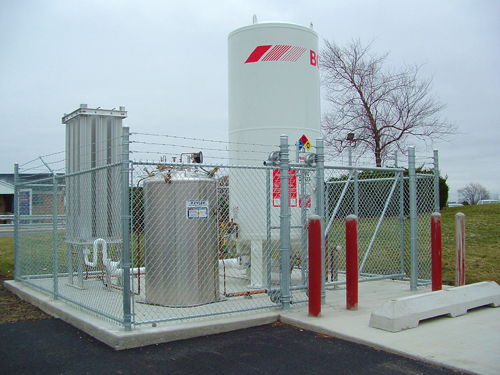 Chain Link Utilty Enclosure with Slide Gate - Gate Options
