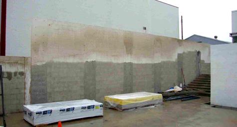 FIELD SANDBLASTING - BLOCK WALL - West Coast Sandblasting, Inc.