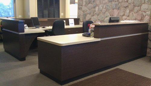 Chamber Custom Reception Desk - Heartland Cabinet Supply, Inc.