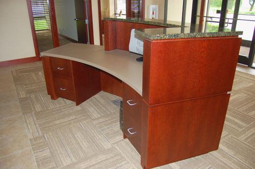 Exemplar Reception Desk - Heartland Cabinet Supply, Inc.