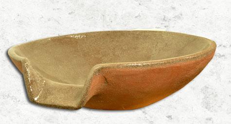 Tuscan Spill Bowl - Terracotta - Fountains Unique LLC