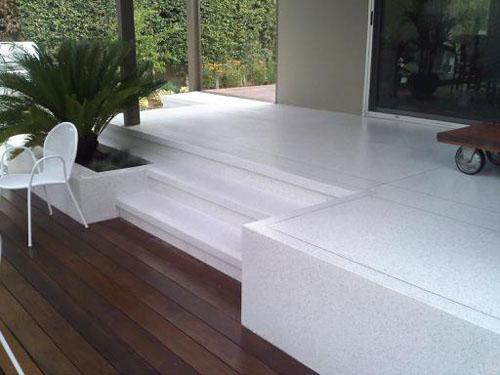 Terrazzo Floor, Steps, & Planters - El Verde Terrazzo Inc.