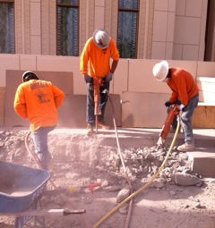 Floor Demolition - Mormon Temple - Progressive Hardscapes - Arizona Demolition Services LLC