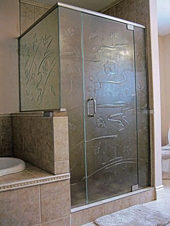 Design Pattern Glass Shower Enclosure - Glass & Screens Etc. Inc.